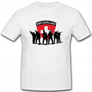 Schweizer Armee Militär Soldaten Wappen Abzeichen Einheit Emblem- T Shirt #3738