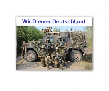 Poster M&N Pictures Wir Dienen Deutschland Bundeswehr ab30x21cm#30244