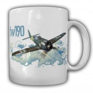 Focke Wulf FW190 Flugzeug Luftwaffe Wh Jagdflugzeug Wk Deutschland Tasse #13550
