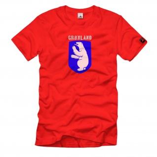Grönland Fahne Flagge Wappen Abzeichen Emblem Eisbär - T Shirt #477