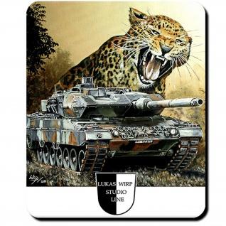 Mauspad Lukas Wirp Leo 2 mit Leo Panzer BW Gemälde Militär Maler PzBtl #23405