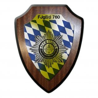 Wappenschild FJgBtl 760 Feldjäger Bataillon Wappen Abzeichen Bayern #17459