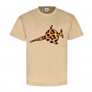 Sägefisch mit Leopardenfell Si vis pacem para bellum Schwertfisch T Shirt #17676