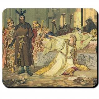 Nibelungensage Hagen von Tronje Siegfried Kriemhilds Hof - Mauspad #14154