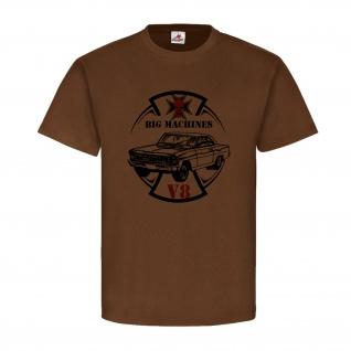BIG MACHINE Fahrzeug V8 Machines Auto Hot Road Big Oldtimer T-Shirt #20588