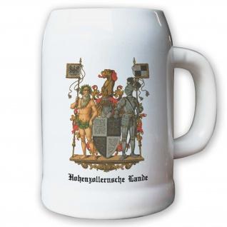 Krug / Bierkrug 0, 5l - Preußische Provinz Hohenzollernsche Lande Hohenzollern #9479