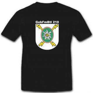 GebFmBtl 210 Bundeswehr Wappen Abzeichen Einheit T Shirt #3371