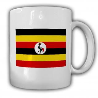 Tasse Republik Uganda Fahne Flagge Kaffee Becher #13960