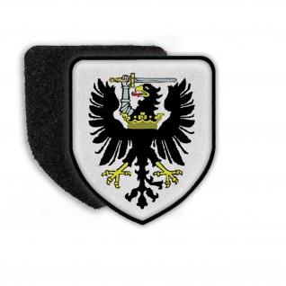 Patch Wappen von Westpreußen Wappentier Adler Krone Schwert Ritter #21842