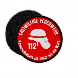 Patch Freiwillige Feuerwehr Kameradschaft FF Löschzug Mitglied 112 Wappen #31949