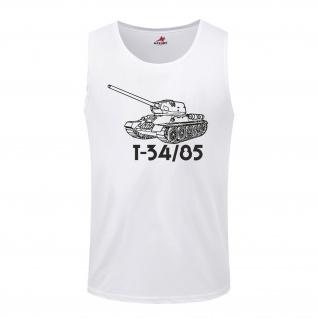 T34-85 Russischer Russland Sowjet Panzer Kanone Panzer - Tanktop / Unterhemd #4822