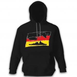 Deutschland Fahne Flagge Heer Marine Luftwaffe - Kapuzenpullover Hoodie #9989