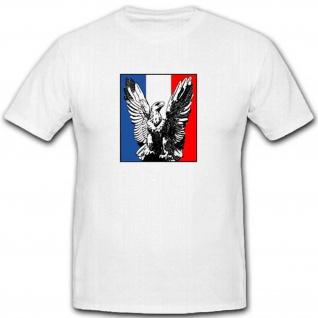 Adler Frankreich Fahne Flagge France Wappen Abzeichen Emblem - T Shirt #2690