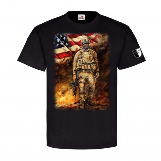 Lukas Wirp US Marine im Feuersturm USA Fahne Flagge Amerika Soldat GI Navy#24099