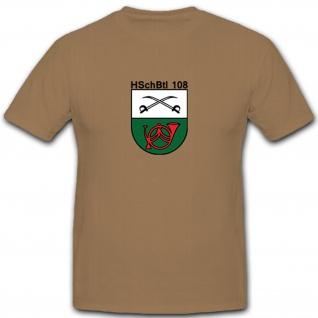 HSchBtl 108 Heimatschutz Bataillon Bundeswehr Bw Wappen Abzeichen T Shirt #5342