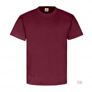 Bordeaux Blanko Textil Baumwolle T Hemd Einsatzhemd T Shirt #26175