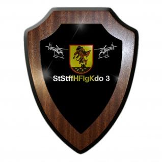 Wappenschild StStffHFlgKdo 3 Militär Wappen Abzeichen Emblem #27082