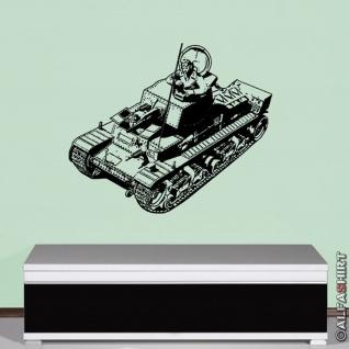Deutscher Panzer Kommandant Panzerschütze Tank Wandtattoo (45x53cm) #11032