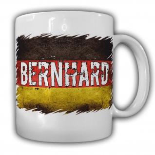 Tasse Bernard Namenstasse Becher Deutschland Altdeutscher Name Fahne Flagge#22055