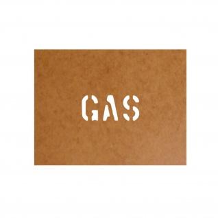 GAS Kraftstoff Bundeswehr Schablone Ölkarton Lackierschablone 2, 5x6cm #15103