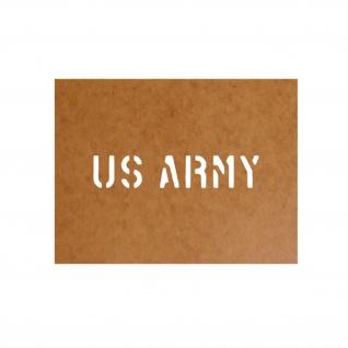 US Army Schablone Bundeswehr Ölkarton Lackierschablone 2, 5x13cm #15111