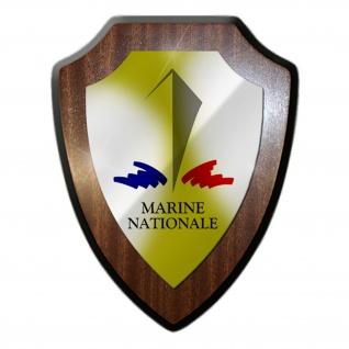 Marine Nationale Französische Marine Streitkräfte Wappenschild #19896