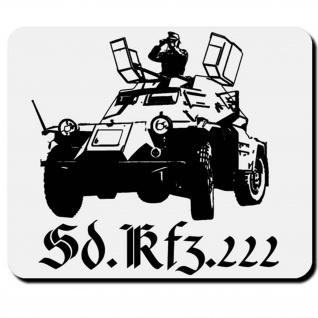 Sonderkraftfahrzeug Militär Heer Spähpanzer Wk Sdkfz 222 - Mauspad PC #16658