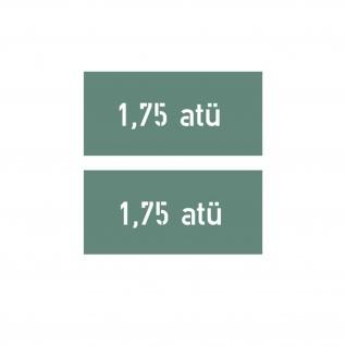 Lackierschablonenaufkleber Reifendruck - Luftdruck 1, 75 atü 1, 7x6, 5cm #A4448