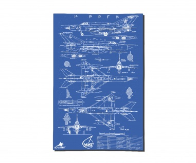Poster MiG 21 94 Mikoyan-Gurevich ?????? ? ??????? ???-21 ab 30x20cm #34528