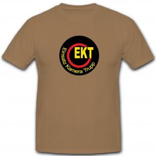 Bundeswehr Wappen Abzeichen Ekt Einsatz Kamera Trupp - T Shirt #4291