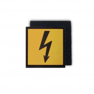Tactical Hochspannung Blitz Strom Elektro Gefahr 3D Rubber Patch 4x4cm #16273
