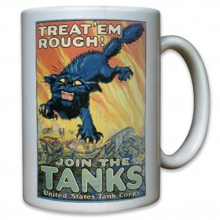 US United States Tank Corps Soldaten Amerika WK 2 WW II Werbung - Tasse #11599