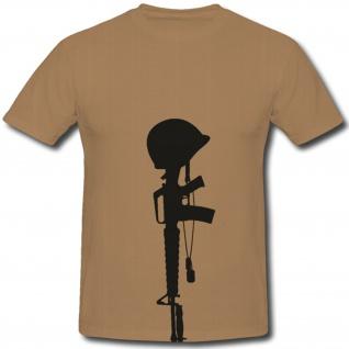 Helm Waffe Bundeswehr Bw Wh Luftwaffe Militär - T Shirt #1098