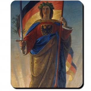 Germania Göttin Germanen Flagge Schwert Philipp Veit 1848 Mauspad #16193