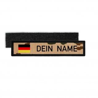 BW Tropentarn Namenschild Patch mit Namen Bundeswehr ISAF Tropen Aufnäher #25317