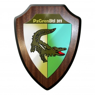 Wappenschild / Wandschild -PzGrenBtl 311 Panzergrenadierbataillon Alligator#9626