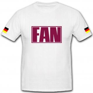 Fan mit Deutschland Fahnen- T Shirt #13033