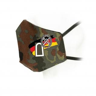 Flecktarn Mund-Maske Dienstgrad Truppengattung Bundeswehr BW Abzeichen #35954