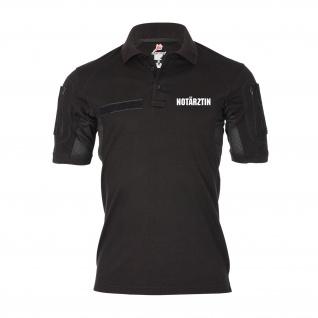 Tactical Poloshirt Notärztin Ärztin Rettungsdienst Sanitäterin schwarz #30422