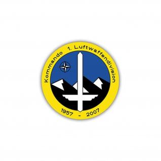 Aufkleber/Sticker Kommando 1. Luftwaffendivision Wappen Abzeichen 7x7cm A1127