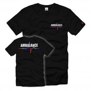 Ambulance Rettung Rettungsdienst Erste Hilfe Rettungswagen EKG T Shirt #34048