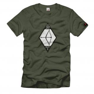1./JG20 1.Staffel Jagdgeschwader 20 Lutwaffe Wappen WK2 Wh - T Shirt #1703