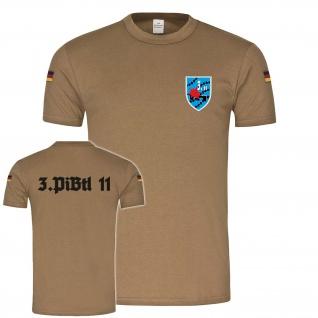3PiBtl 11 Militär BW Bundeswehr Soldaten BW Tropen Shirt #22785
