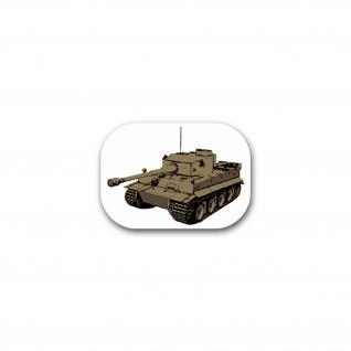 Aufkleber/Sticker Tiger Panzer Panzerkampfwagen Deutschland BW 10x7cm#A2224