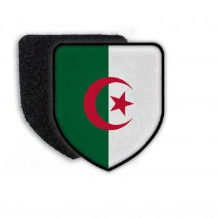 Patch Flagge von Algeria Wappen Zeichen Fahne Flagge Aufnäher Land Staat #21455