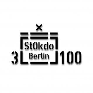 3 StOKdo Berlin 100 Standortkommando Aufkleber Taktisches 34x19cm #A4499