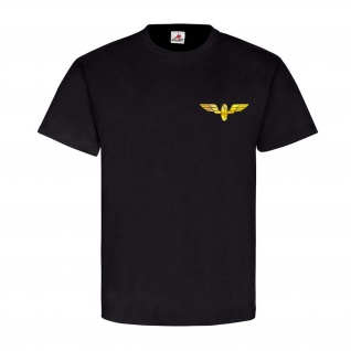Bahn Flügelrad Einsenbahn Wappen Abzeichen Logo Zug Dampflok T-Shirt #23951