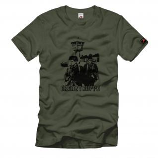 DDR Grenztruppe NVA Militär Mauerfall Patrouille Besatzungszone T Shirt #880