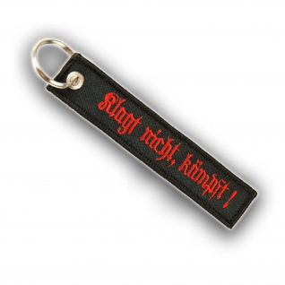 Schlüsselanhänger Klagt nicht kämpft Schlüsselband BW Militär 12, 5x2, 5cm #16056