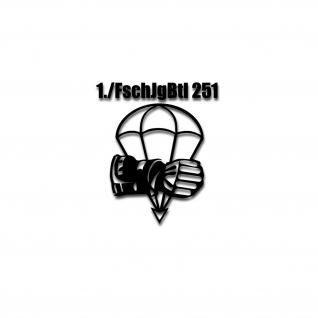1 FschJgBtl 251 Calw Kompanie Abzeichen Fallschirmjäger Aufkleber 10x6cm #A4559